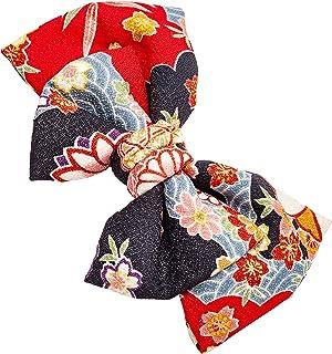 [ 錦 ] 和装 髪飾 和装小物 赤 ピンク色 七五三 成人式 卒業式 浴衣 蝶ネクタイ H-001...