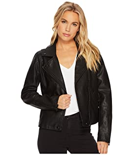 Black Vegan Leather Jacket in Onyx