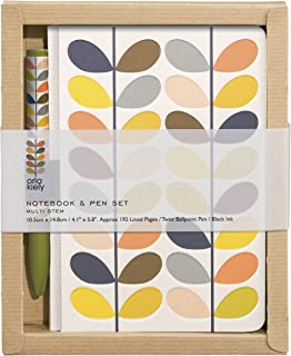 Orla Kiely | Pocket A5 Notebook and Pen Set | Multi Stem Design
