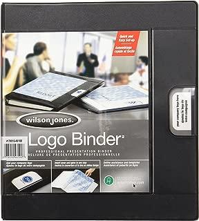 Wilson Jones Custom Imprint Presentation Binder, 1 Inch Capacity, Letter Size, Black (W46100)