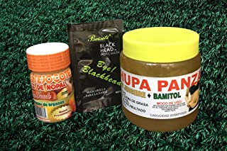 Tejocote Root Reinforzed with Cactus Root Extra Strong, Chupa Panza con Bamitol y Jengibre Ginger Pack (Charcoal Mask Included)