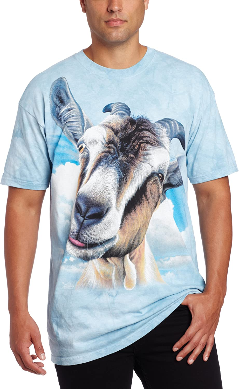 The Mountain Men's Goat Bargain T-Shirt Sleeve shopping Short Head