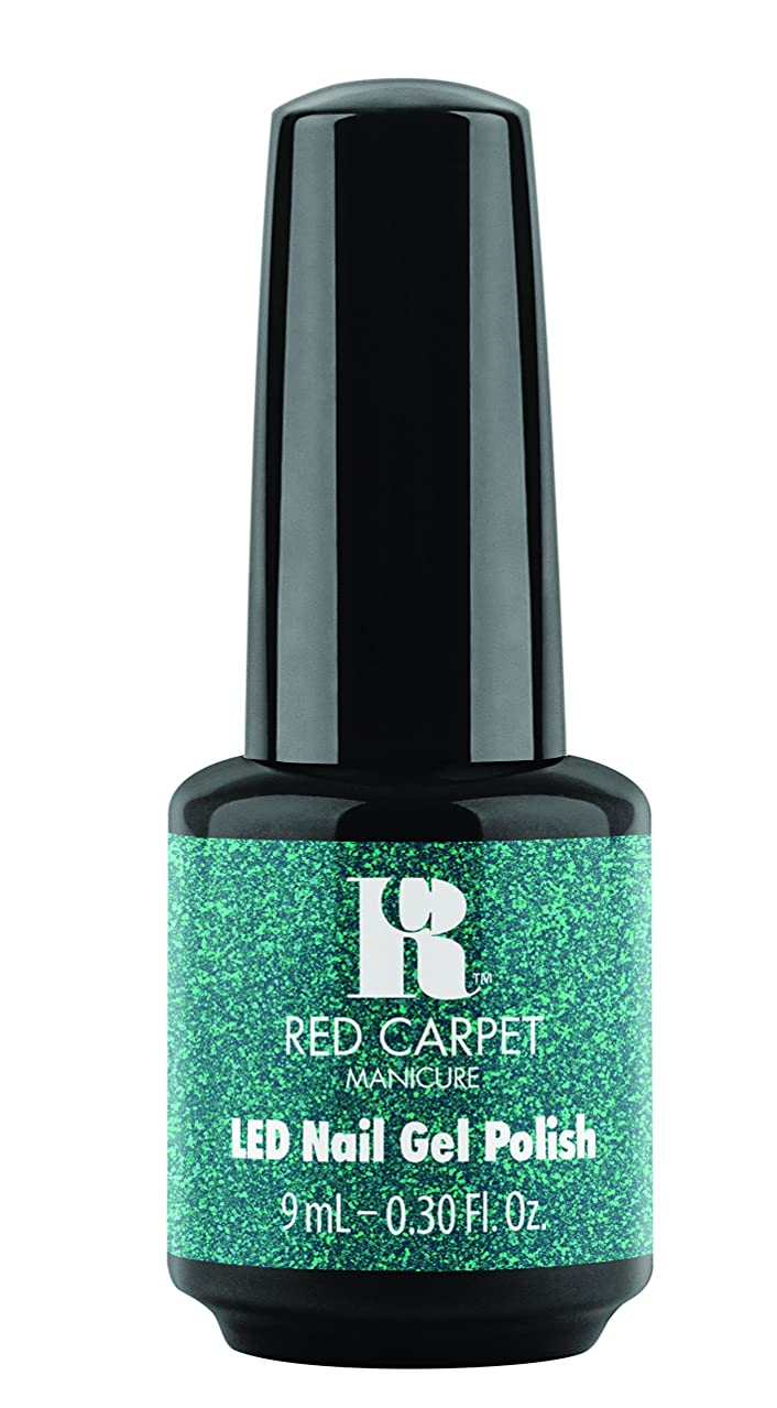 柔らかい南東扱いやすいRed Carpet Manicure - LED Nail Gel Polish - Designer Series - Shimmering Gown - 0.3oz / 9ml