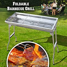 BenefitUSA Foldable Large Stainless Steel Barbecue Charcoal BBQ Grill Kabob Shashlik Cooking Stove