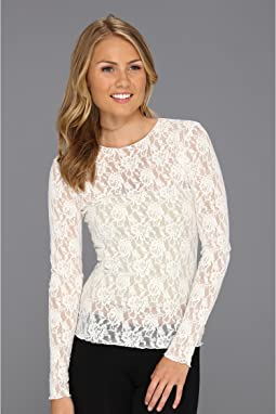 Signature Lace Unlined Long Sleeve Top