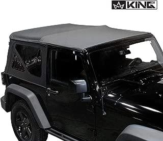 King 4WD Replacement Soft Top - Black Diamond - JK 2 Door 2010-2018 Jeep Wrangler
