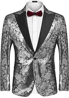 d8ad7ea6088 COOFANDY Men s Fashion Suit Jacket Blazer Weddings Prom Party Dinner Tuxedo