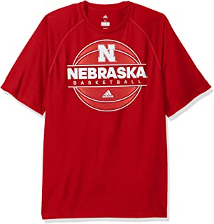 NCAA Nebraska Cornhuskers Mens 2017 On Court Climalite S/Tee2017 On Court Climalite S/Tee, Power Red, Medium