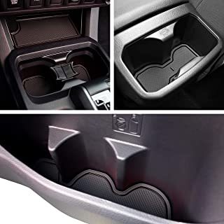 Custom Fit Cup, Door Center Console Liner Accessories for Toyota Tacoma 2019 2018 2017 2016 19PC Set (Double Cab, Solid Black)