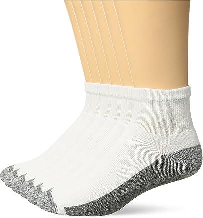Hanes Mens ComfortBlend Max Cushion Black Ankle Socks