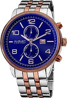 August Steiner Men's Urbane Analogue Display Multifunction Swiss Quartz Bracelet Watch