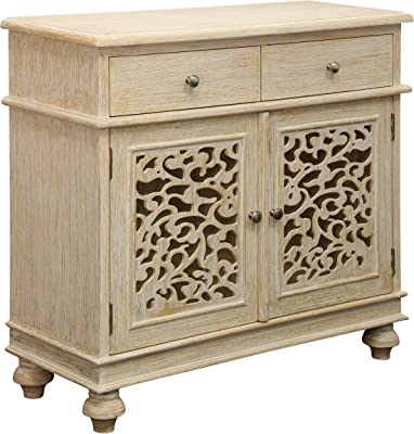 Collective Design Transitional Trinidad 2-Door Wood Tan Finish Console, brown