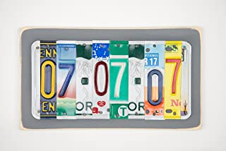 10th Anniversary Tin and Aluminum License Plate Wedding Date Sign Gift Idea for Husband or Wife