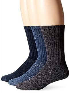 Dockers Men's 3 Pack Enhanced and Soft Feel Cushion Crew Socks