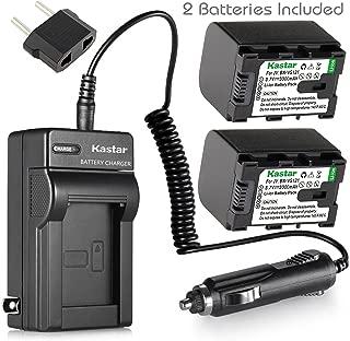 Kastar BNVG121 Battery 2X + Charger for JVC BN-VG121 BN-VG121U BN-VG121US BN-VG114 BN-VG114U BN-VG114US BN-VG107 BN-VG107U BN-VG107US JVC GZ-E10 GZ-E100 GZ-E15 GZ-E200 GZ-E205 GZ-E208 GZ-E220 GZ-E225