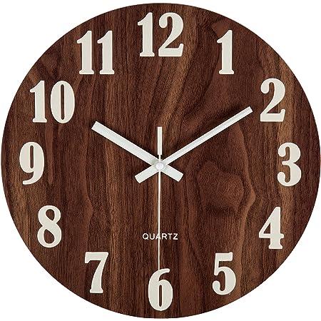 GLOW IN DARK Round Wall Clock Bedroom Kitchen Clocks Sweep NW AU Silent M5P3
