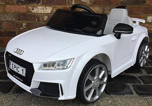 Audi TT RS Sportauto für Kinder, elektrisch, mit Fernbedienung, 12 V, Akku, Weißszlig;
