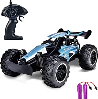 GotechoD RC Cars for Kids Remote Control Car High Speed Racing Car 1: 18 Scale Electric RC Toys for 6 7 8-12 Year Old Boys Girls Adults Birthday Xmas Gifts Rechargeable Batteries Blue