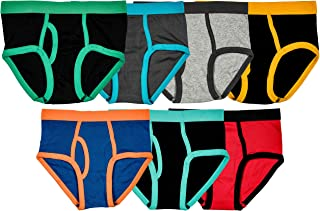 Trimfit Boys 100% Cotton Tagless Colorful Briefs (Pack of 7)