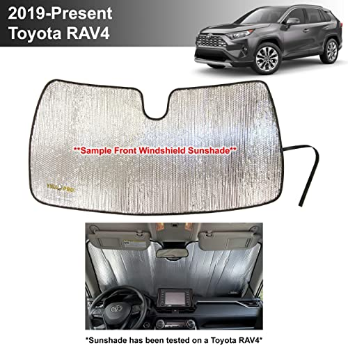 lowest YelloPro sale Custom Fit Front Windshield Sunshade Protector for 2019 2020 2021 Toyota RAV4 SUV Crossover, LE lowest XLE Premium Limited XSE Hybrid Adventure, Sun Shade Accessories, Made in USA online sale