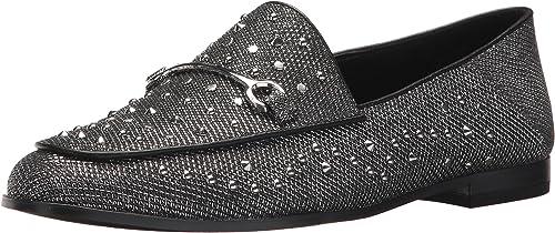 Nine West Woherren WESTOY Loafer Flat, Silber-schwarz Fabric, 5.5 Medium US