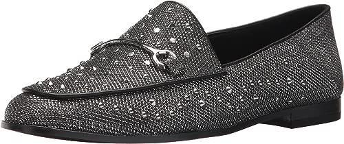 Nine West Woherren Westoy Fabric Loafer Flat, schwarz-Silber-schwarz Fabric, 8.5 Medium US