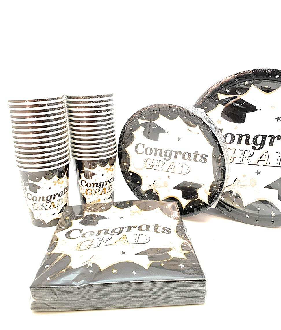 120 pc Classic Graduation Value Pack Party Set Include 7