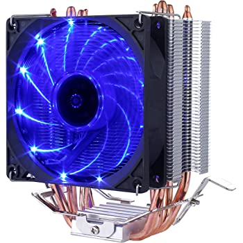 upHere CPU Cooler Blue LED 4 Copper Heat Pipes 92mm PWM Fan Aluminum Fins for AMD Ryzen/Intel, C92B