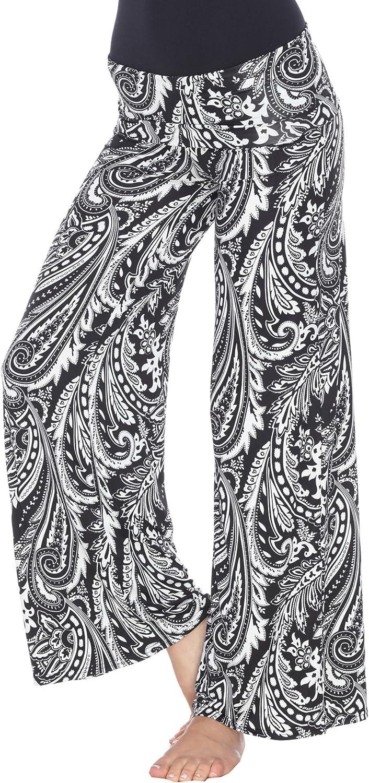 white Luxury goods mark Women's El Paso Mall Wide Pants Leg Printed Palazzo