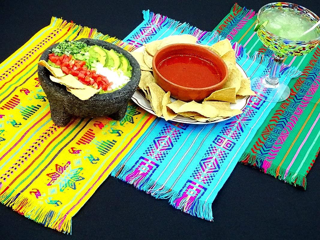 Mexican Napkins Mexican Theme Party Bulk Set Of 6 Assorted Colors Fiesta Decor Woven Napkins Boho Chic Linens Hippie Decor Tribal Kitchen NAP001