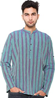 EASY 2 WEAR ® Men Chinese Collar Kurta/Shirt Plus Size - Foldable Sleeves (S to 5XL) Comfort/Regular FIT