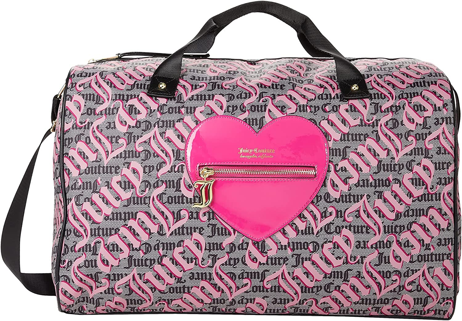 Juicy Couture Genuine Free Shipping Whole Lotta Love On Soldering One Duffel Logo Size