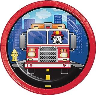 Fire Truck Dessert Plates, 24 ct