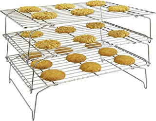 Surpahs 304 Grade Stainless Steel 3-Tier Stackable Cooling Rack Set