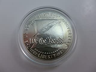1987 Commemorative Constitution Silver Dollar $1 Choice Uncirculated US Mint