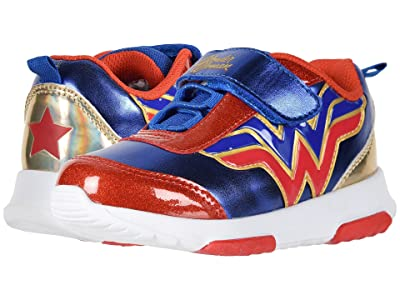 Favorite Characters WWF311 Wonder Womantm Lighted Sneaker (Toddler/Little Kid) (Red/Blue) Girl
