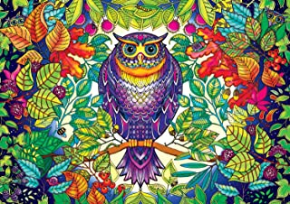 """Buffalo Games Featuring The Work of Johanna Basford Forest Owl Jigsaw Puzzle (500 Piece) 21.25""""x15"""""""