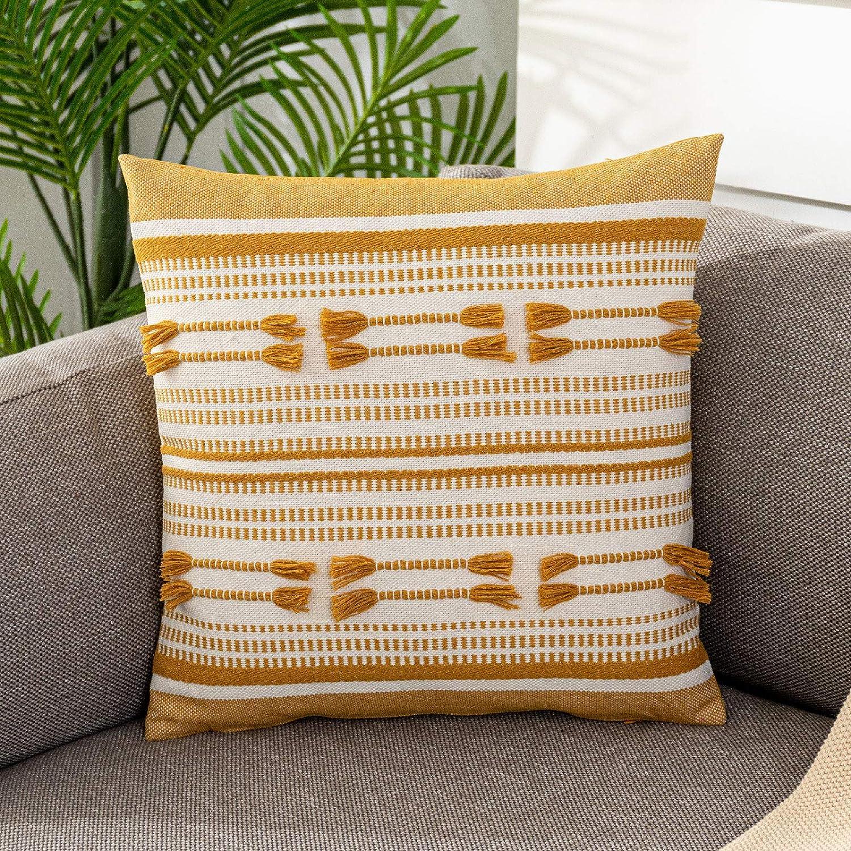 Lahome Very popular! OFFicial store Boho Striped Throw Pillow Cute Dec Farmhouse Cover Tribal