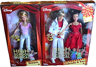 High School Musical Rare Three Pack Gabriella, Troy, and Sharpay Collectible Disney Characters Disney High School Musical Barbies