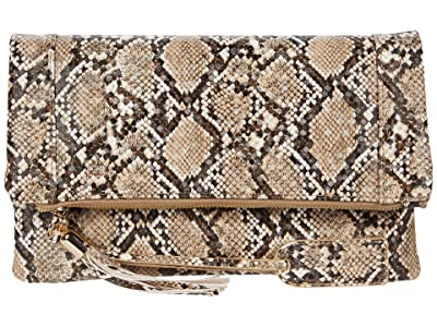 SOLE / SOCIETY Tasia Clutch (Natural Snake) Clutch Handbags