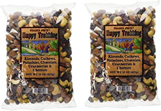 Trader Joe's Happy Trekking Almonds, Cashews, Pistachios, Chocolate, Cranberries & Cherries - 15 oz, (Pack of 2)