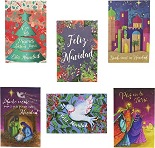 Religious Spanish Christmas Cards with Envelopes– Pack of 48 – 4 x 6 Inches