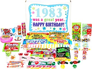 Woodstock Candy ~ 1983 36th Birthday Gift Box of Nostalgic Retro Candy from Childhood for 36 Year Old Man or Woman Born 1983