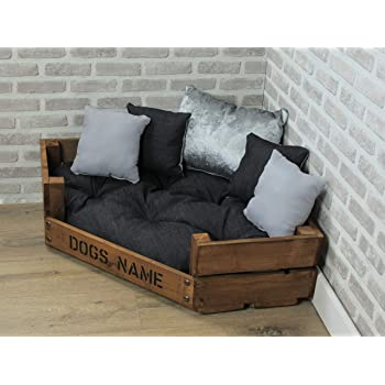 Rustic Dog Bed made from reclaimed pallet wood.: Amazon.co.uk: Pet Supplies
