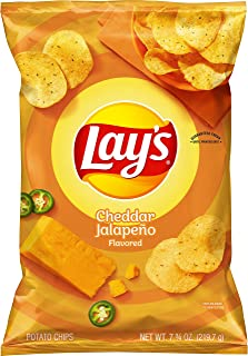 Lay's Cheddar Jalapeno Flavored Potato Chips, 7.75 Oz