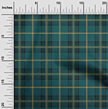 oneOone Cotton Poplin Fabric Tartan Check Decor Fabric Printed by The Meter 42 Inch Wide