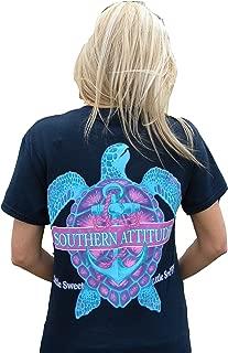 Southern Attitude Snappy Sea Turtle Navy Blue Women's T-Shirt