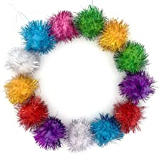 Assorted Color Sparkle Balls ,cat toy,20pcs