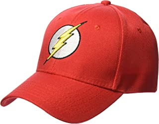 DC Comics Men's Flash Faux Wool Baseball Cap