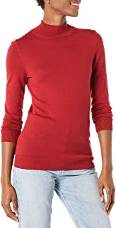 Amazon Essentials Women's Lightweight Long-Sleeve Mockneck Sweater (Available in Plus Size)
